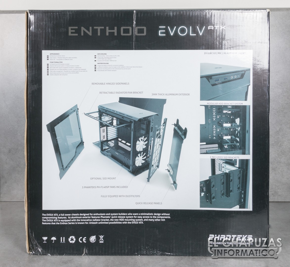 phanteks enthoo evolv atx manual