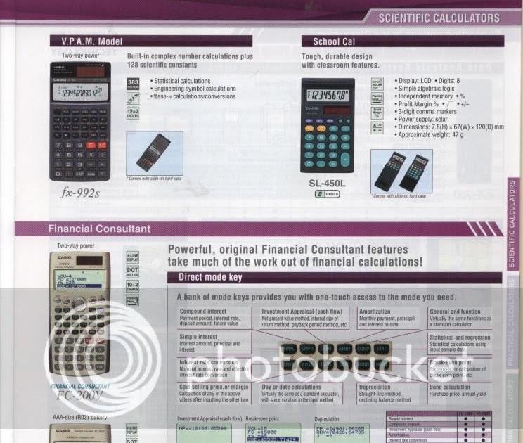 casio financial calculator fc 100v manual