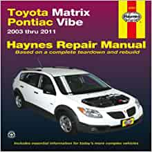 2003 pontiac vibe repair manual download