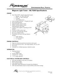 terex light tower parts manual