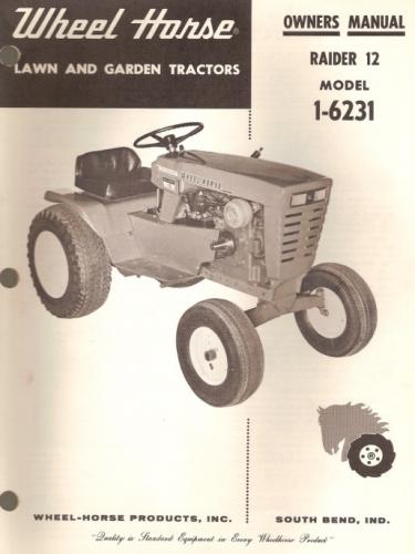 wheel horse raider 10 manual pdf