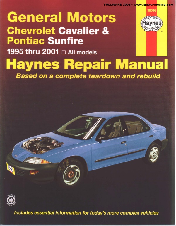 pontiac sunfire repair manual pdf