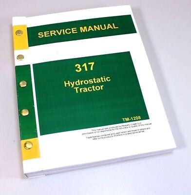 john deere 400 hydrostatic tractor service manual