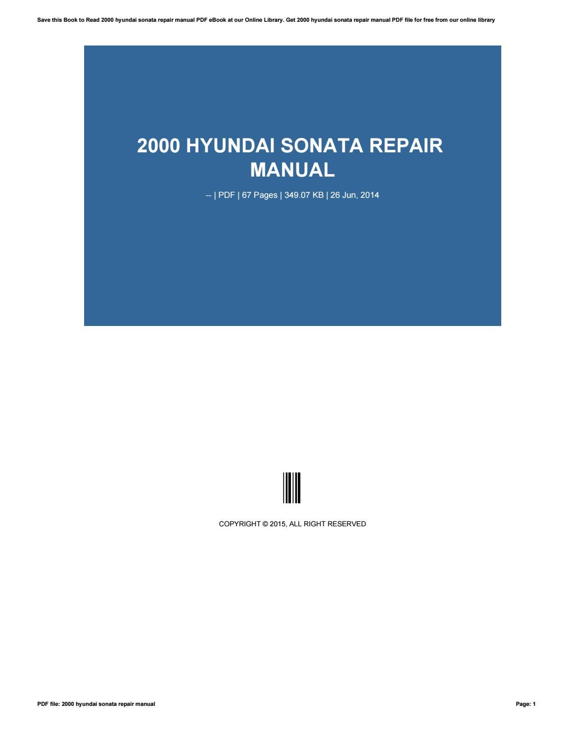 2012 hyundai sonata repair manual pdf