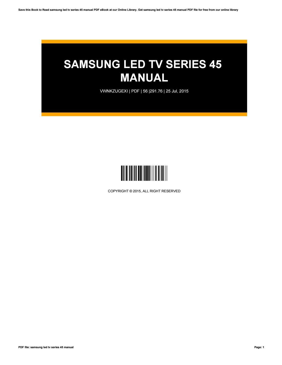 samsung series 8000 e manual