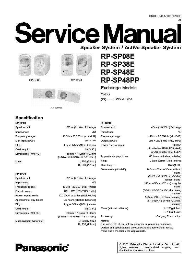 panasonic sa ak25 service manual