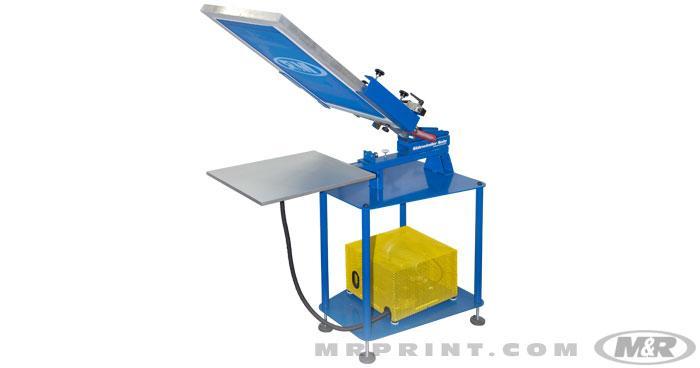 m&r manual screen printing press