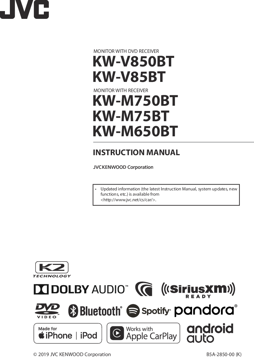 Jvc Kw R710 Installation Manual