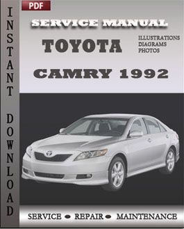 1992 toyota camry repair manual free download