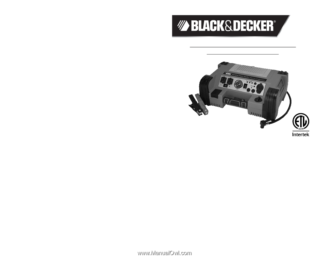 black and decker b2300 manual