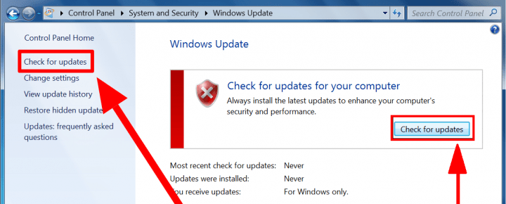 how to manually download windows 7 updates
