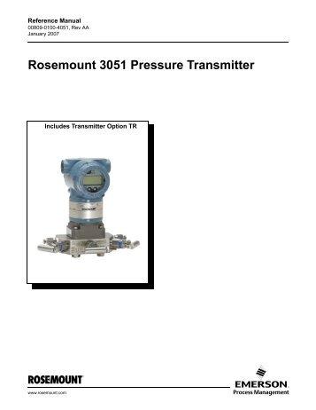 rosemount 1151 pressure transmitter manual